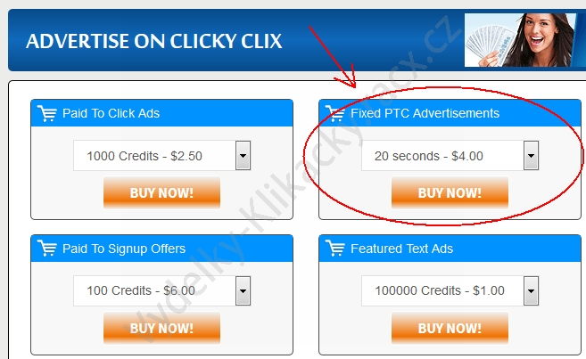 clickyclix fixed ads