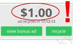 Paidverts reklama za 1 dolar
